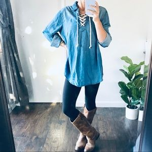 Anthropologie BeachLunchLounge | Chambray Tunic